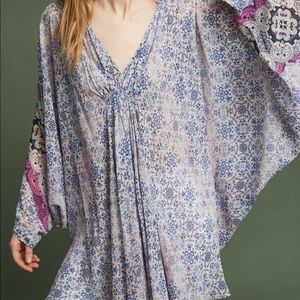 {Anthropologie} Georgette Poncho